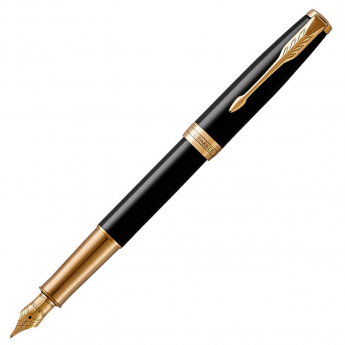 Перьевая ручка PARKER ESSENTIAL SONNET LAQUE BLACK GT F