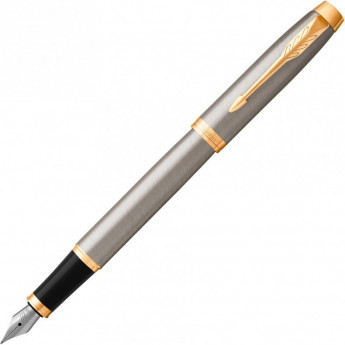 Ручка перьевая PARKER IM BRUSHED METAL GT, F