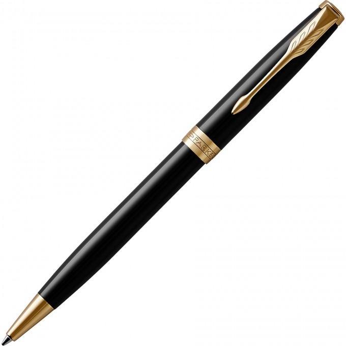 Шариковая ручка PARKER ESSENTIAL SONNET LAQUE BLACK GT M 1931497